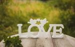 Вырезанные буквы на свадьбу