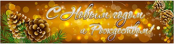 баннер на новогодние праздники