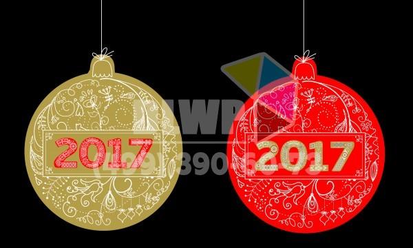 Стикеры и наклейки на новый год 2017